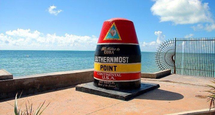 Key West, az USA legdélebbi pontja